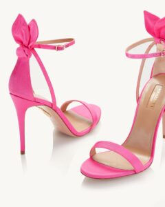 sandalia rosa aquazzura